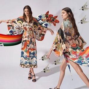 Rainbows 🌈 Boho Japanese Insp Kimono Duster